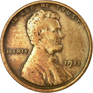 United States / One Cent 1911 Wheat Penny - obverse photo