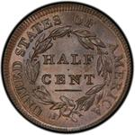 United States / Half Cent 1809 Classic Head / Circle in 0 - reverse photo