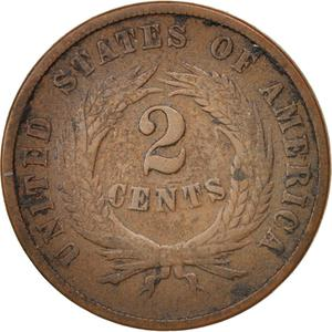 United States / Two Cents 1869 - reverse photo