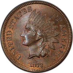 United States / One Cent 1872 Indian Head - obverse photo