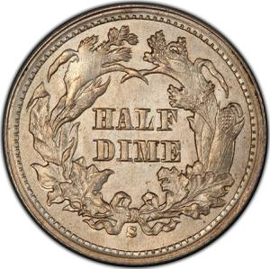 United States / Half Dime 1869 Seated Liberty - reverse photo
