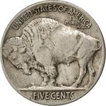 United States / Five Cents 1913 Buffalo Nickel / Flat ground (Philadelphia Mint) - reverse photo