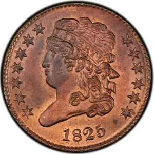United States / Half Cent 1825 Classic Head - obverse photo