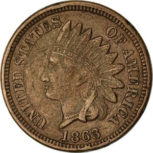 United States / One Cent 1863 Indian Head - obverse photo