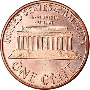 United States / One Cent 1974 Lincoln Memorial - reverse photo