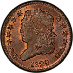 United States / Half Cent 1829 Classic Head - obverse photo