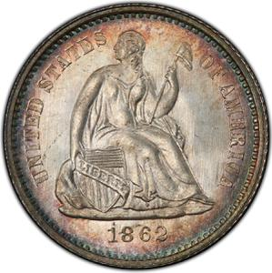 United States / Half Dime 1862 Seated Liberty - obverse photo