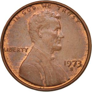 United States / One Cent 1973 Lincoln Memorial - obverse photo