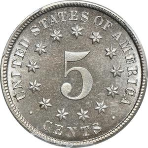 United States / Five Cents 1881 Shield Nickel - reverse photo