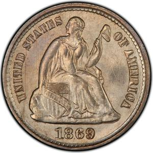 United States / Half Dime 1869 Seated Liberty - obverse photo