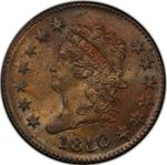 United States / One Cent 1810 Classic Head / 1810/09 overdate - obverse photo