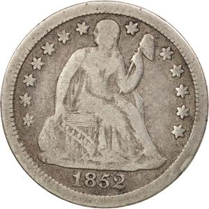United States / One Dime 1852 Seated Liberty - obverse photo