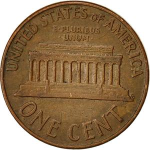 United States / One Cent 1961 Lincoln Memorial - reverse photo
