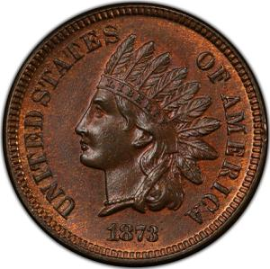 United States / One Cent 1873 Indian Head - obverse photo