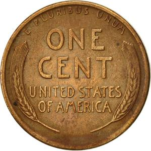 United States / One Cent 1917 Wheat Penny - reverse photo