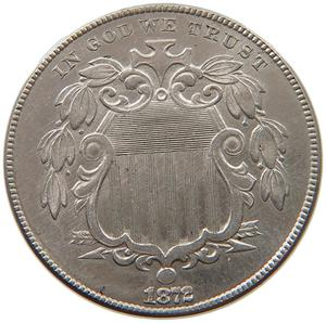 United States / Five Cents 1872 Shield Nickel - obverse photo
