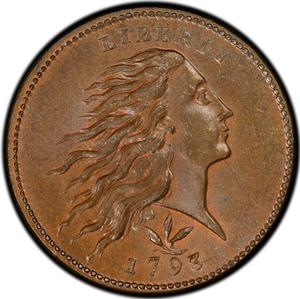 United States / One Cent 1793 Flowing Hair, Wreath - obverse photo