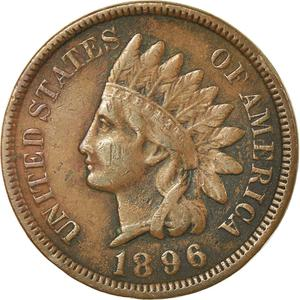 United States / One Cent 1896 Indian Head - obverse photo