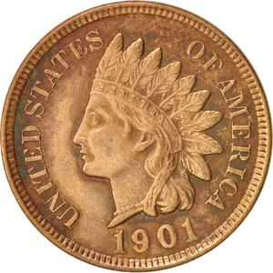 United States / One Cent 1901 Indian Head - obverse photo