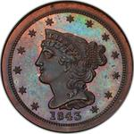 United States / Half Cent 1843 Braided Hair (Proof only) / First restrike, proof - obverse photo