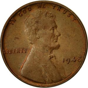 United States / One Cent 1948 Wheat Penny - obverse photo