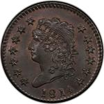United States / One Cent 1814 Classic Head / Crosslet 4 - obverse photo