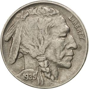 United States / Five Cents 1935 Buffalo Nickel - obverse photo