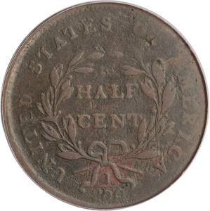 United States / Half Cent 1802 Draped Bust - reverse photo