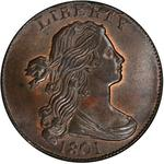 United States / One Cent 1801 Draped Bust / Fraction 1/000 - obverse photo
