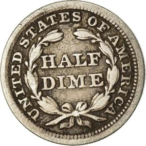 United States / Half Dime 1854 Seated Liberty - reverse photo