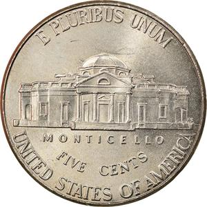 United States / Five Cents 2010 Jefferson Nickel - reverse photo