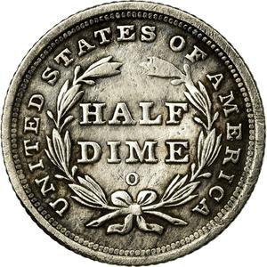 United States / Half Dime 1839 Seated Liberty - reverse photo