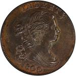 United States / One Cent 1800 Draped Bust / 80/79 overdate, Style 2 Hair - obverse photo