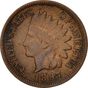 United States / One Cent 1897 Indian Head - obverse photo