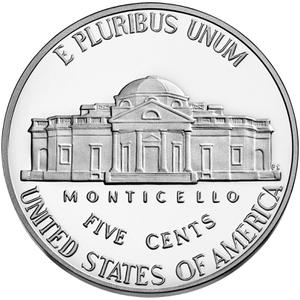 United States / Five Cents 2021 Jefferson Nickel - reverse photo