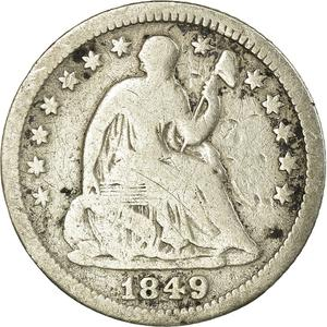 United States / Half Dime 1849 Seated Liberty - obverse photo