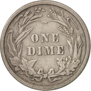 United States / One Dime 1915 Barber - reverse photo