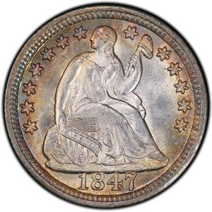 United States / Half Dime 1847 Seated Liberty - obverse photo