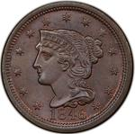 United States / One Cent 1846 Braided Hair / Tall date - obverse photo