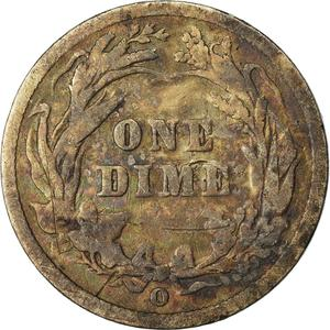 United States / One Dime 1896 Barber - reverse photo