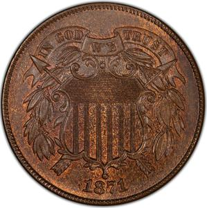 United States / Two Cents 1871 - obverse photo