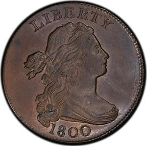 United States / One Cent 1800 Draped Bust - obverse photo