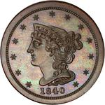 United States / Half Cent 1840 Braided Hair (Proof only) / First restrike, proof - obverse photo