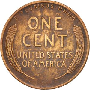 United States / One Cent 1942 Wheat Penny - reverse photo