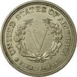 United States / Five Cents 1883 Liberty Head Nickel / No CENTS - reverse photo