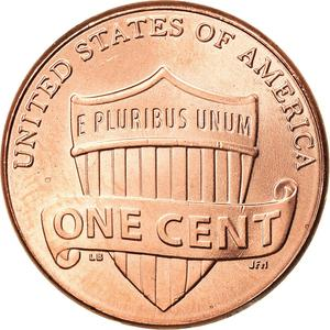 United States / One Cent 2016 Union Shield - reverse photo