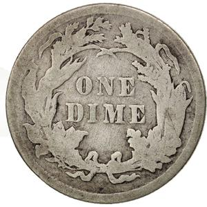United States / One Dime 1890 Seated Liberty - reverse photo