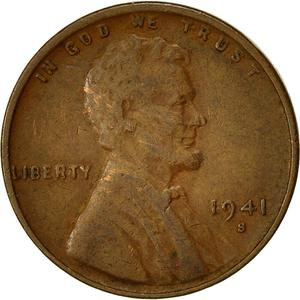 United States / One Cent 1941 Wheat Penny - obverse photo