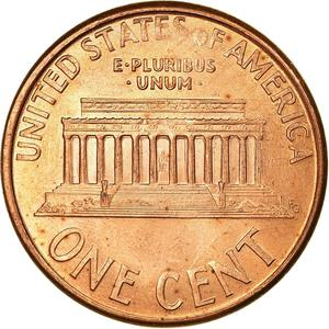 United States / One Cent 1995 Lincoln Memorial - reverse photo