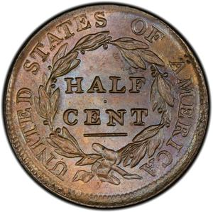United States / Half Cent 1809 Classic Head - reverse photo